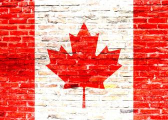 Flaga Kanady - graffiti