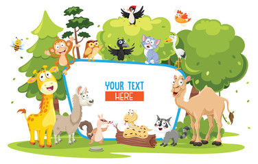 Vector Illustration Of Kids Nature Concept