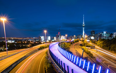 Night view of Auckland, New Zealand