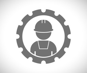worker in gear