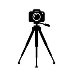 aparat fotograficzny na statywie ikona