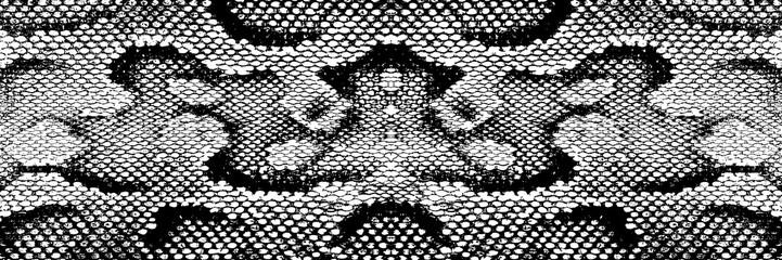 skin snake texture pattern boa black white print