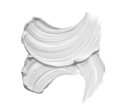 White smear of face clay or cream