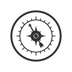 Compass icon, simple design for website or app, simple design