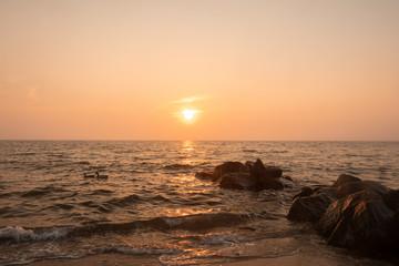 Obraz scenic seascape view as burial at sea concept - fototapety do salonu
