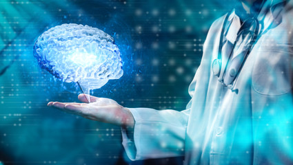 Arzt - Gehirn - Untersuchung