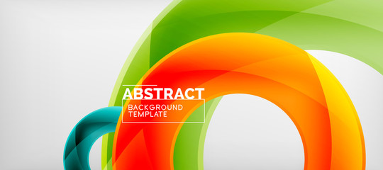 Colorful vector rings geometric abstract background, modern geometric pattern design. Business or technology presentation design template, brochure or flyer pattern, or geometric web banner