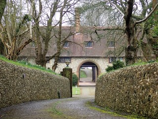 Driveway leading to Otford Manor, Otford, Kent