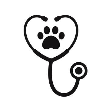 Stethoscope with paw print