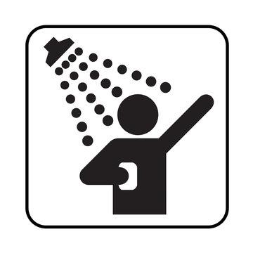 Shower sign pictogram