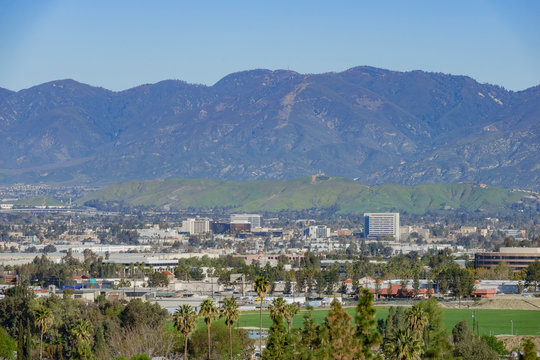 Aerial view of Loma Linda cityscape