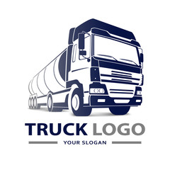 Truck Logo Transportation. Abstract Lines. Vector illustration
