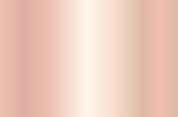 Realistic rose gold gradient texture. Shiny golden pink metal foil gradient. Vector illustration