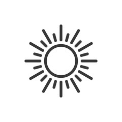 Sun line style icon. Vector. Isolated.