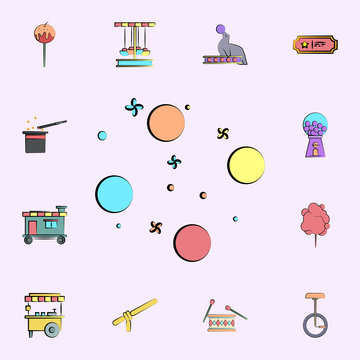 orbs colored icon. circus icons universal set for web and mobile