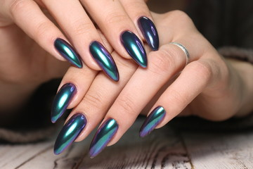 manicure with long nails