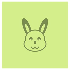 bunny icon vector. EPS 10