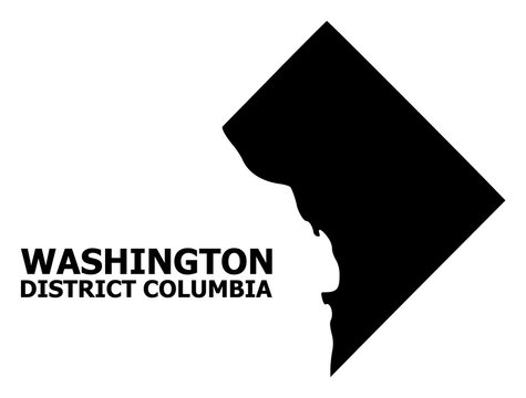 Vector Flat Map of District Columbia with Name