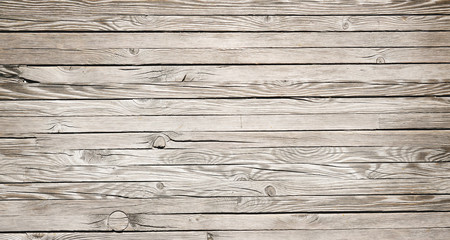 Horizontal wood textured background. Wooden planks on a wall or floor with grain and texture.