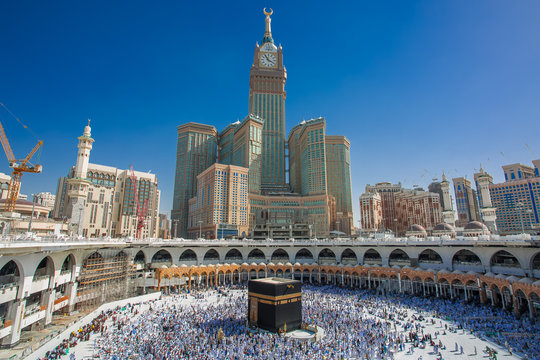 makkah SAUDI ARABIA  muslim tourists and pilgrims the makkah