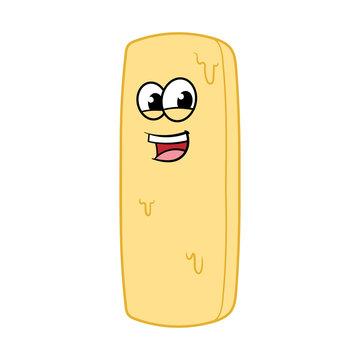 Cartoon Stick of Butter Character