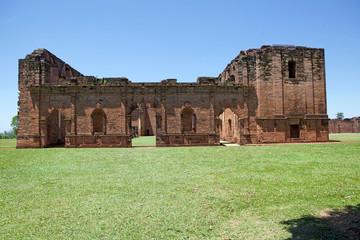 Ruins of Jesus de Tavarangue located in Itapua, Paraguay