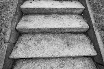 Old granite staircase