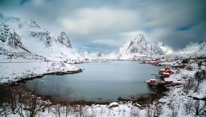 verschneite landschaft am Polarkreis