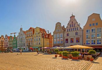 Rostock Marktplatz Sommer