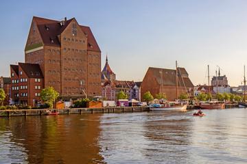 Rostock Hafen Speicher Stadt