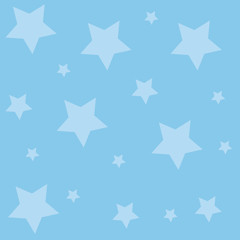 Pastel Blue Color Backdrop and Five Point Ten Sides Decagon Stars Scattered Business Empty template for Layout for invitation greeting card promotion poster voucher