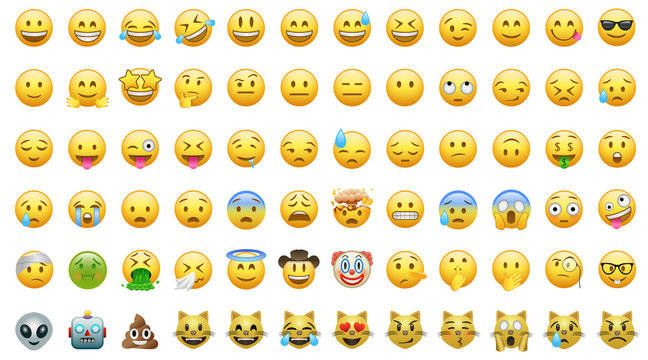 Emoji set icons bor apps