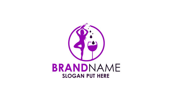 Yoga Wine Logo Design
