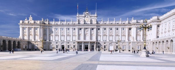 Royal Palace in Madrid, Spain.