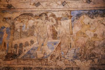 frühmuslimische Fresken im Dessert Castle Qasr Al-Kharana