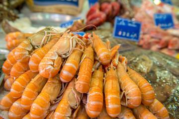 krewetki na bazarze