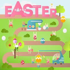Easter Egg Hunt on Park Map