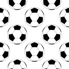 Piłka nożna. Czarno-białe płaskie ikona. Wzór - 260288936