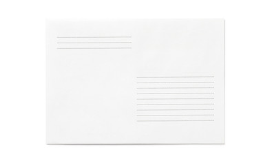 Simple blank envelope isolated, with place for text, front view