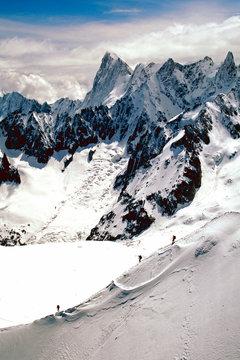 Chamonix Aiguille du Midi Mont Blanc Massif French Alps France