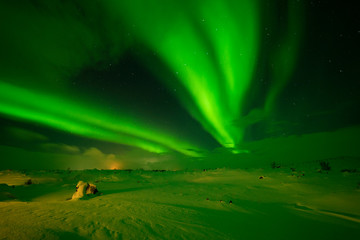 Northern lights - Aurora Borealis - in Iceland
