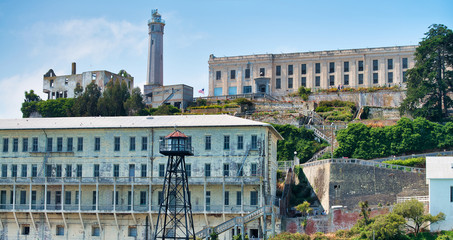 Exterior view of Alcatraz Island in San Francisco