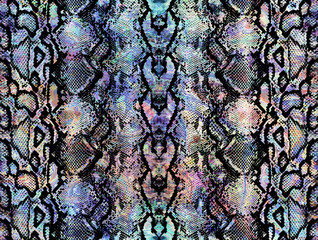 Snake skin pattern texture repeating seamless colorful texture snake. Texture snake. Fashionable print. Fashion and stylish background.