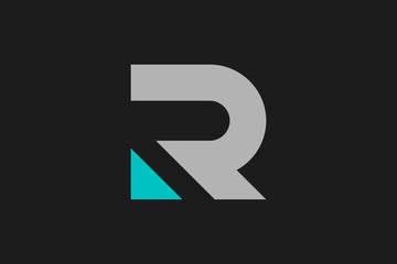 Letter R Flat Vector Logo Design
