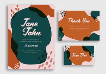 Wedding Suite with Illustrative Elements