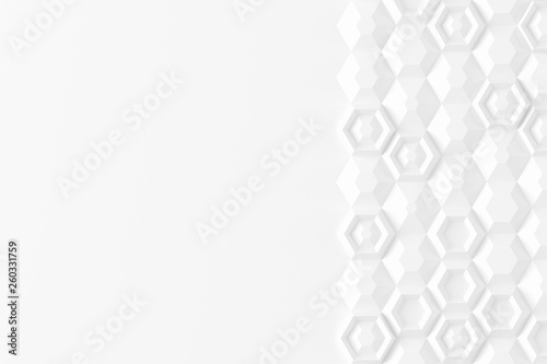 Parametric digital texture based on hexagonal grid with