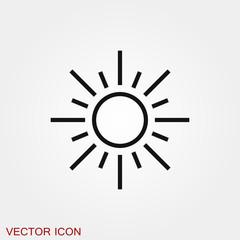 Sun Icon vector sign symbol for design