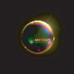 Iridescent shiny sphere.