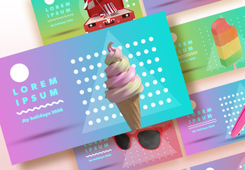 Colorful Gradient Slide Cover Set with White Accents