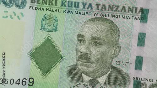 Tanzania Shilling Notes Rotating